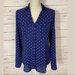 Express Portofino XS Anchor Print Shirt